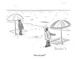 """Save my spot"" - New Yorker Cartoon"