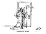 """""""Take a wild guess  butter boy"""" - New Yorker Cartoon"""