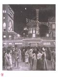 1894- Drawing la Sortie du Moulin Rouge