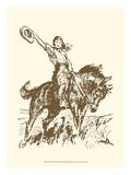 Small Cowgirl Reproduction d'art par Vision Studio