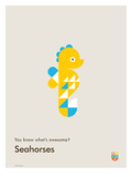 You Know What's Awesome Seahorses (Gray)