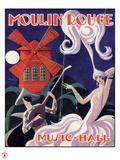 1924 Moulin Rouge Programme Giclée par Edouard Halouze