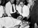 John Dillinger  Public Enemy No 1  Lying on a Slab in the County Morgue in Chicago