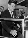 Pres John Kennedy Boston Leaves Children's Medical Center after Death of Infant Son  Aug 9  1963