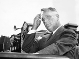 President Franklin Roosevelt Mopping His Brow During a 'Purge Speech'
