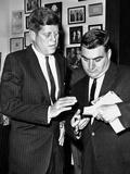 President-Elect John Kennedy Confers with Press Secretary Pierre Salinger  Dec 1  1960