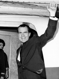 Former Vice Pres Nixon  Heading for Tokyo and Hong Kong on Business for NY Law Firm  Nov 13  1964