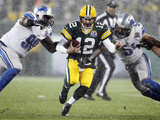 Green Bay Pakers and Detroit Lions NFL: Aaron Rodgers  Nick Fairley and DeAndre Levy