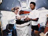 Astronauts Dr Jan Davis and Dr Mae Jemison  Mission Specialists on Space Shuttle Endeavor Mission
