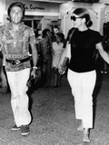 Jacqueline Kennedy Onassis and Fashion Designer Valentino in Capri  Italy  Aug 24  1970