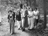First Lady Eleanor Roosevelt Visits a Camp Tera for Unemployed Women Near Bear Mountain  NY