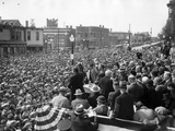 Democratic Presidential Candidate  Franklin Roosevelt  Speaks to Crowd of 10 000  Butte  Montana