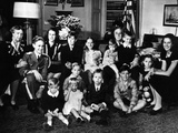 Pres Franklin and Eleanor Roosevelt with Grandchildren at His Fourth Inauguration  Jan 20  1945