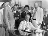 President Franklin Roosevelt Signs the Social Security Bill