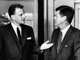 President John Kennedy with Baptist Evangelist Billy Graham at the White House  Dec 12  1961