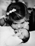 Caroline Kennedy  3 Years Old Kisses Her Baby Brother  John F Kennedy Jr  Feb 13  1961