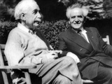 Albert Einstein with Israel's Prime Minister  David Ben-Gurion
