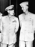 General Dwight Eisenhower Smiles at His Son  First Lieutenant John Sheldon Eisenhower