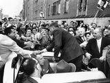 Democratic Presidential Nominee John Kennedy Campaigning  Oct 1960