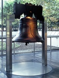 The Liberty Bell  on Display at Independence National Historical Park  in Philadelphia  ca 2000