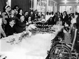 President-Elect Franklin Roosevelt Celebrating His 51st Birthday