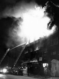 Flames Engulf the Building Housing a Nation of Islam Mosque No 7  Harlem