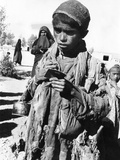 Afghan Youngster in a UNICEF Feeding Line in Chakcharan  Ghor Province