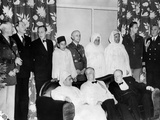 Allied Nations War Strategy Conference in Casablanca  French Morocco  Feb 1  1943
