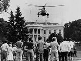 President John Kennedy's New Helicopter Takes Off from the South Lawn