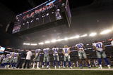 Philadelphia Eagles and Dallas Cowboys NFL: Dallas Cowboys stand during the national anthem