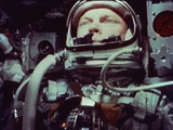 Astronaut John Glenn in Earth Orbit