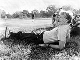President Jimmy Carter Relaxing During a Softball Game in Plains  Georgia