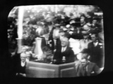 Television Broadcast Image of Pres Franklin Roosevelt at Opening Ceremonies at New York Worlds Fair