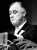 Pres Franklin Roosevelt Speaking to Annual Red Cross Convention Delegates  Apr 25  1939