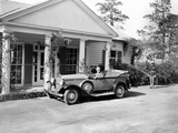 Pres Franklin Roosevelt in Specialized Car at Vacation Cottage at Warm Springs  GA  Nov 23  1935