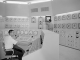Technicians in a Nuclear Reactor Control Room at NASA's Plum Brook Station in Sandusky  Ohio  1959