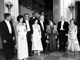 Pres John and Jacqueline Kennedy at Dinner Honoring Executive and Judicial Heads of Government