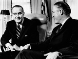 President Lyndon Johnson Meeting with George Romney