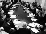 President Lyndon Johnson's Cabinet Meets  May 13  1965