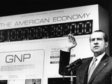 President Richard Nixon Unveiled a New Gross National Product (GNP) Clock at the Commerce Dept