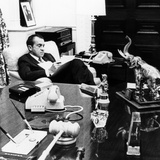 President Richard Nixon in His Office in the White House Residence