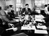 President John Kennedy Held a Meeting on Foreign Trade at Hyannis Port