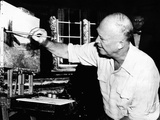 Republican Presidential Nominee  Dwight Eisenhower Painting in Fraser  Colorado