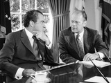 President Richard Nixon with House Minority Leader Gerald Ford