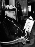 Sara Delano Roosevelt Admiring a Picture of Her Son  Pres Franklin Roosevelt  ca 1935