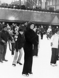 Jacqueline Kennedy Onassis Ice Skating at Rockefeller Center  New York City  Sept 9  1970