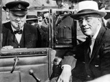 'Victory Is Everywhere ' Said Winston Churchill as He Greeted President Franklin Roosevelt
