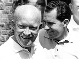 Former President Dwight Eisenhower and His Vice President  Richard Nixon Meet to Play Golf