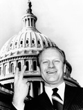 House Republican Leader Gerald Ford Flashes a Victory Smile