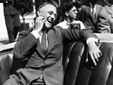 Candid Portrait of President Franklin Roosevelt Speaking to Informally to Greeters at Hyde Park  NY